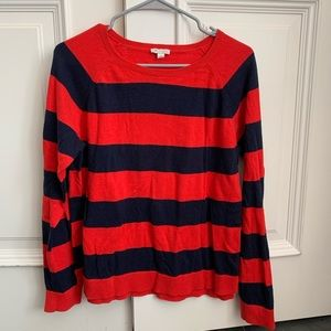 Navy and red striped Gap sweater, size large.